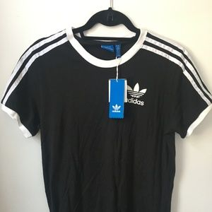 Adidas 3-stripe cotton shirt